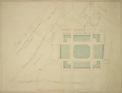 [Plan of Belgrave Square and the property adjoining]
